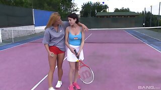 Amateur All the following are babes Chrissy Fox coupled with Anabelle play tennis coupled with eat pussy